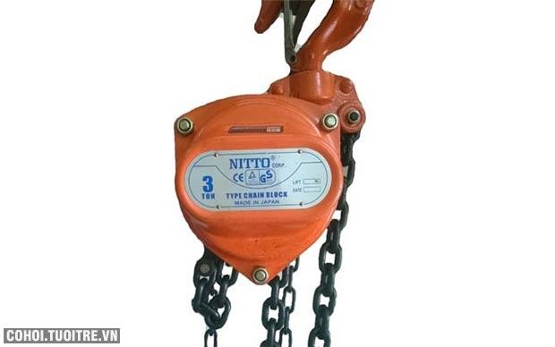 Khuyến mãi pa lăng xích kéo tay Nitto 30VP5