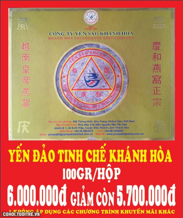 Khuyến mãi đặc biệt yến đảo tinh chế Khánh Hòa