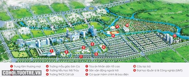 Kế hoạch phát triển quỹ đất 45ha tại KĐT Cát Lái, Q.2