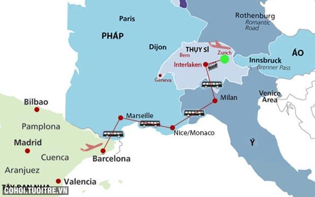 Khám phá nét đẹp miền biển Địa Trung Hải châu Âu