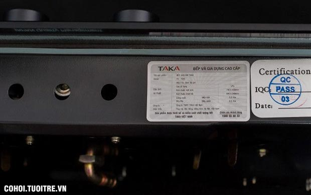 Bếp gas âm hồng ngoại Taka TK-102C