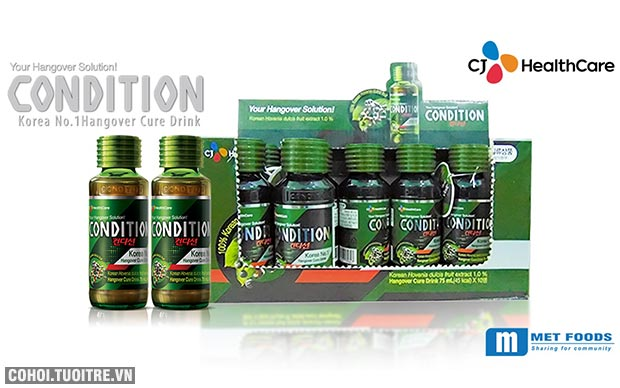 Condition giúp giải rượu, thanh lọc gan