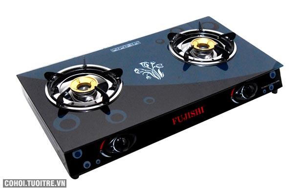 Bếp gas chén đồng kính cường lực Fujishi FM-H10-D