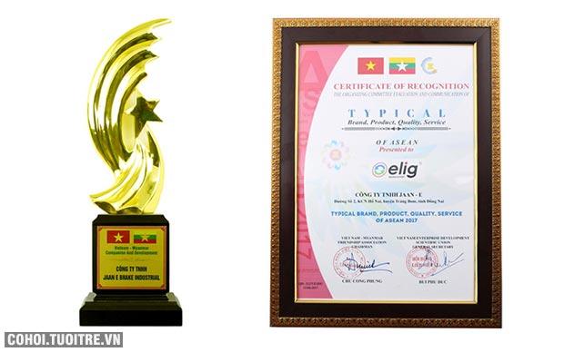 Elig nhận giải thưởng thương hiệu tiêu biểu của ASEAN
