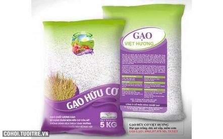 Gạo hữu cơ Việt Hương ngon xốp giá mềm