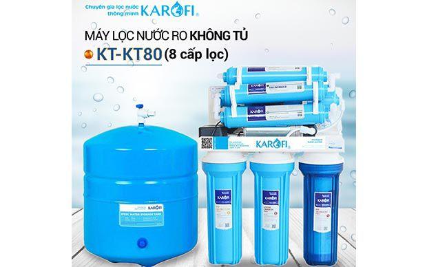 Máy lọc nước RO để gầm, không tủ KAROFI KT-KT80