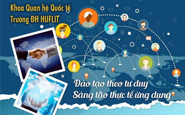 Khoa Quan hệ Quốc tế Trường ĐH HUFLIT - đào tạo theo tư duy Sáng tạo thực tế ứng dụng