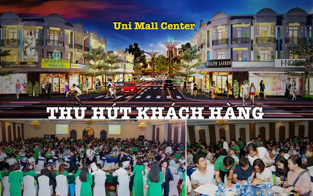 Uni Mall Center thu hút khách hàng