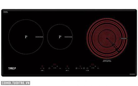 Bếp 1 hồng ngoại 2 điện từ Chef's EH-MIX544