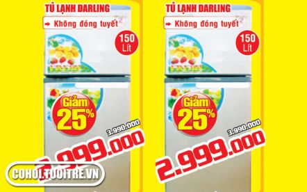 Tủ lạnh Darling 150 lít