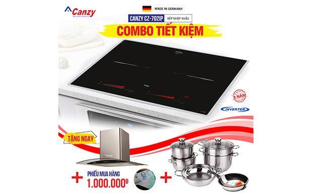 Bếp từ đôi cảm ứng 2 lò Canzy CZ-702IP