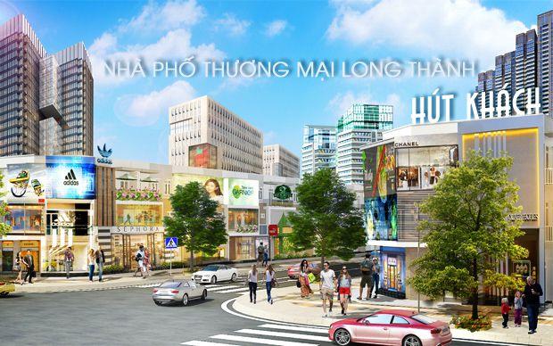 Nhà phố thương mại Long Thành hút khách
