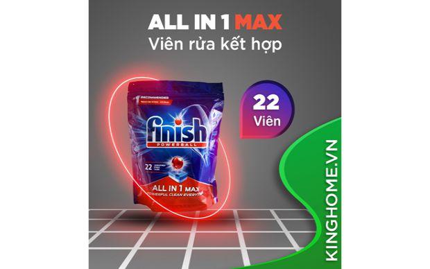 Giảm giá viên rửa bát Finish All In One Max 22 viên