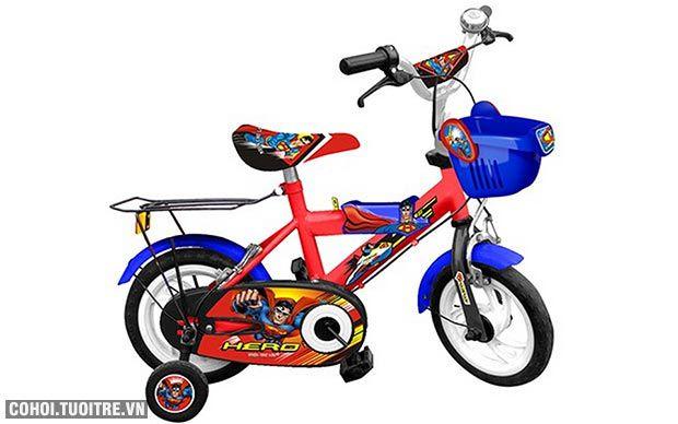 Xe đạp trẻ em Nhựa Chợ Lớn 12 inch M1259-X2B Superman