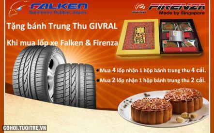 Tặng bánh Trung Thu Givral khi mua lốp xe Falken và Firenza