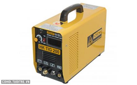 Máy hàn điện tử HK TIG 200-PK, máy hàn TIG 200 Ampe