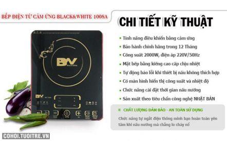 Bếp điện từ cảm ứng Black & White BW-1008A