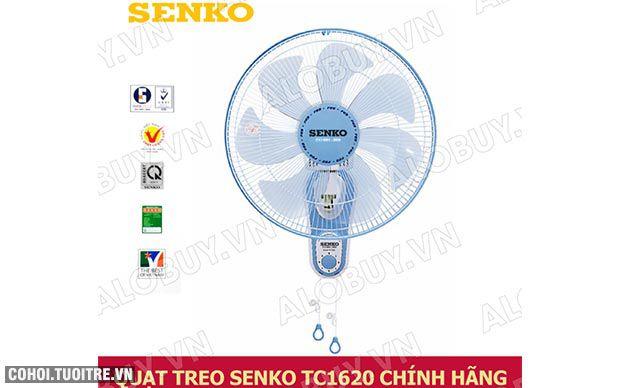Quạt treo tường 7 cánh Senko TC1620, 2 dây điều khiển