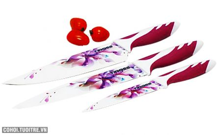 Bộ 3 dao hoa tráng men sứ Tiross TS 1280