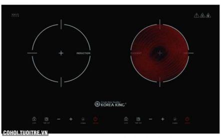 Bếp đôi hồng ngoại - điện từ Koreaking KIC-4000RH