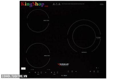 Bếp 2 điện từ - 1 hồng ngoại Taka TK-IR03A