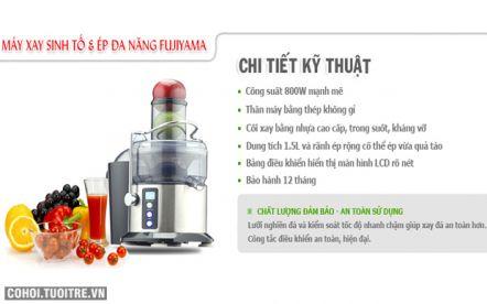 Máy xay sinh tố & ép đa năng FUJIYAMA FB-818CPC