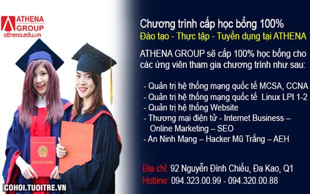 Chương trình cấp học bổng 100% tại Athena Group