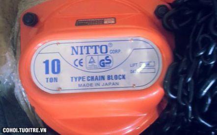 Pa lăng xích kéo tay 5 tấn, 10 mét Nitto 50VP5