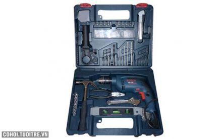 Bộ máy khoan Bosch GSB 13 RE SET 100 chi tiết