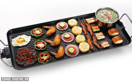 Vỉ nướng điện không khói Electric Barbecue Plate DS-6048