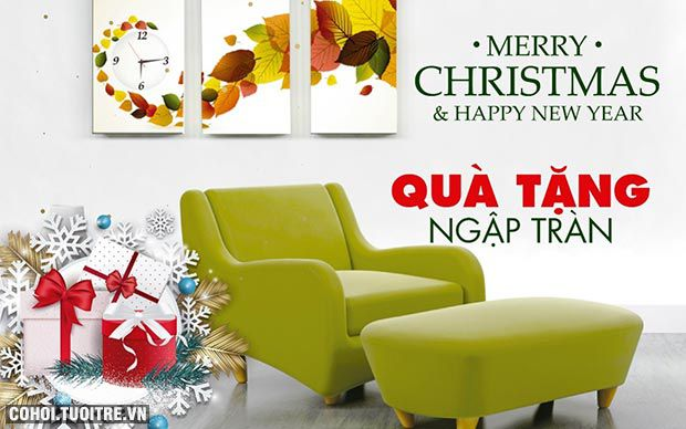 Đón Giáng sinh, chào năm mới, quà tặng ngập tràn