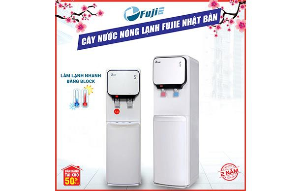 Cây nước nóng lạnh 2 vòi FujiE WD6000C