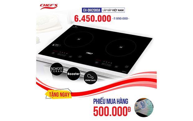 Bếp từ CHEFS 2 lò cảm ứng EH-DIH2000A