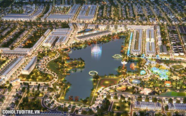 Phố Long Phát thuộc dự án KĐT Cát Tường Phú Sinh