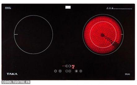 Bếp đôi hồng ngoại - điện từ Taka TK-IR1A1
