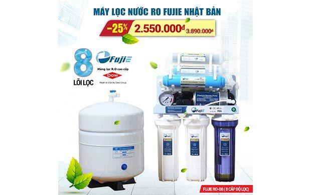 Máy lọc nước gia đình FujiE RO-08, 8 cấp độ lọc