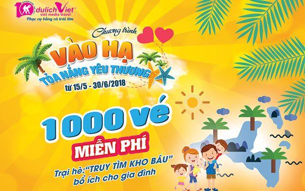 1.000 vé trại hè miễn phí dành cho trẻ em