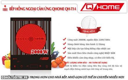 An toàn, tiết kiệm với bếp hồng ngoại cảm ứng Q-HOME QH-T14