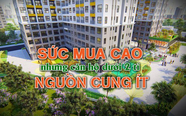 Sức mua cao nhưng căn hộ dưới 2 tỉ nguồn cung ít