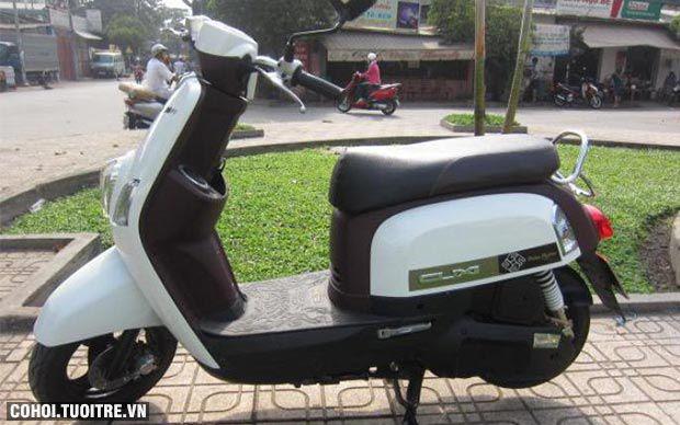 Xe Yamaha Cuxi Fi màu trắng đen máy mới êm