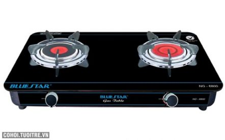 Bếp gas hồng ngoại Bluestar NG-6800CN - có 2 vòng lửa