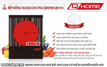 Bếp hồng ngoại cảm ứng tiện dụng Q-HOME QH-T14
