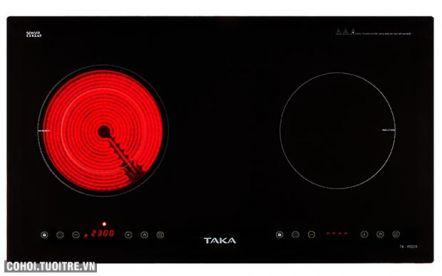 Bếp đôi hồng ngoại - điện từ Taka TK-IR02A