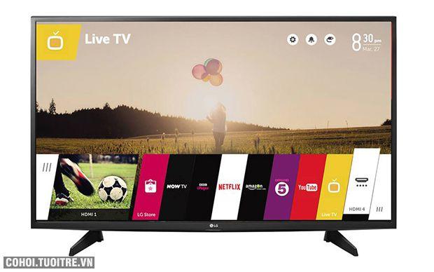 Smart tivi LG 43LH590T thiết kế kiểu dáng sang trọng