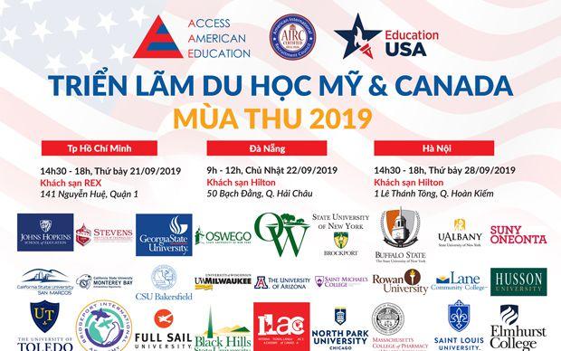 Triển lãm du học Mỹ và Canada toàn quốc mùa Thu 2019