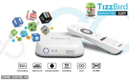 Tizzbird S20T - AndroidBox xem phim Full 3D ISO Bluray