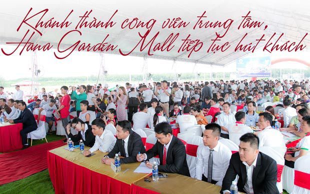 Khánh thành công viên trung tâm, Hana Garden Mall tiếp tục hút khách
