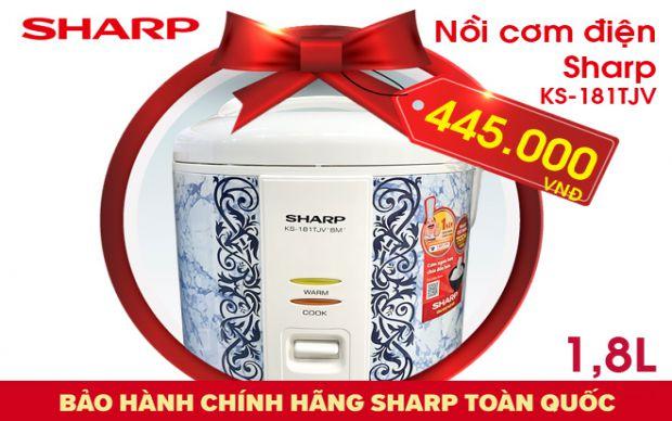 Xả kho nồi cơm điện Sharp KS-181TJV dung tích 1,8L
