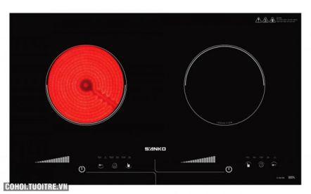 Bếp điện từ và hồng ngoại Sanko SI-268 BM