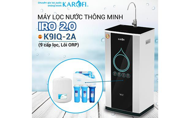 Máy lọc nước RO KAROFI iRO 2.0 K9IQ-2A (Lõi ORP)